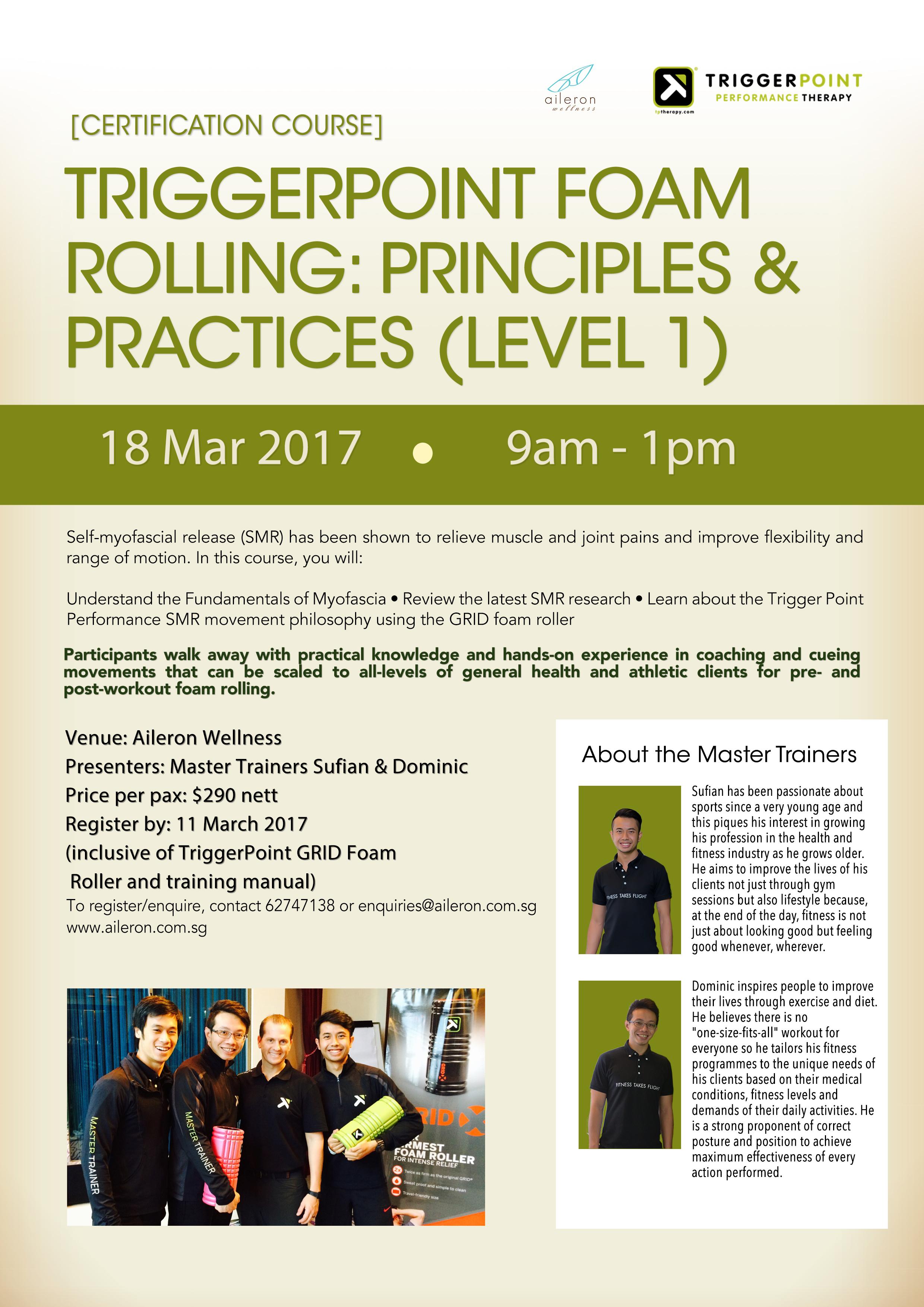 Certification Course Triggerpoint Foam Rolling Principles